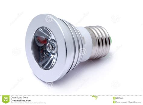 multi color led light bulb isolated on white royalty free