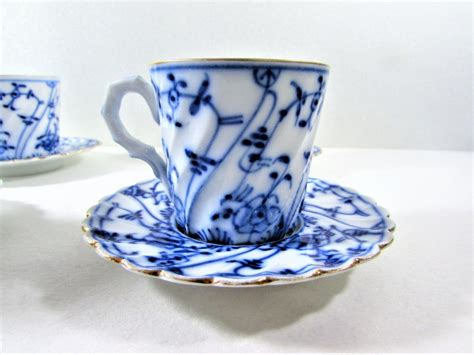 blue and white floor l demitasse cup and saucer blue and white floral germany set