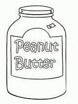 Coloring Peanut Butter Colouring Patrick sketch template