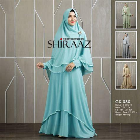 Harga Gamis Merk Shiraaz gs 030 by shiraaz baju gamis dan khimar ceruti premium