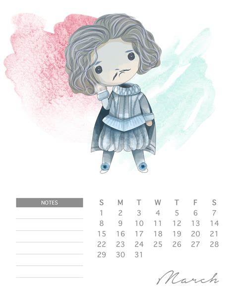magical  printable  harry potter calendar
