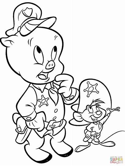 Coloring Porky Pig Speedy Pages Gonzalez Drawing