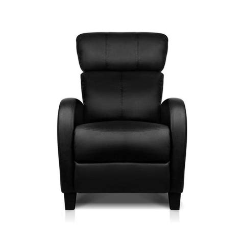 Buy Leather Armchair by Buy Faux Leather Armchair Recliner Black In Australia