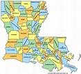 Map of Louisiana - TravelsFinders.Com