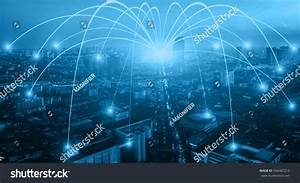 Business Networking Connection Concept Wifi City Stock ...