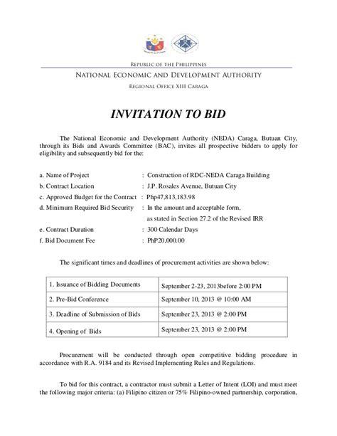 Bid Websites Invitation To Bid