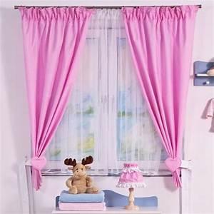 Rideaux de chambre bebe fille rose achat vente for Rideaux chambre fille rose