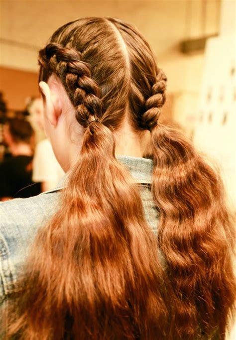 double braid hairstyles      school