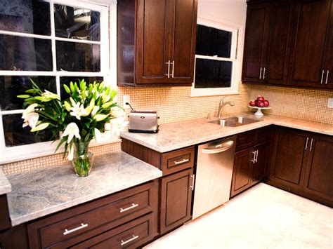 dark kitchen cabinets with light countertops photos hgtv