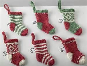 elins kreative side knitted mini christmas stockings