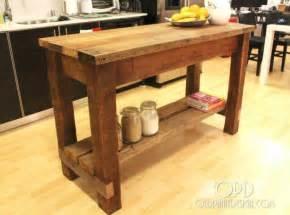 how to kitchen island 30 rustic diy kitchen island ideas