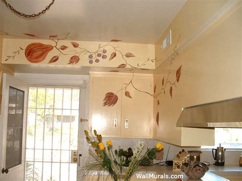 kitchen wall murals custom painted kitchens wall