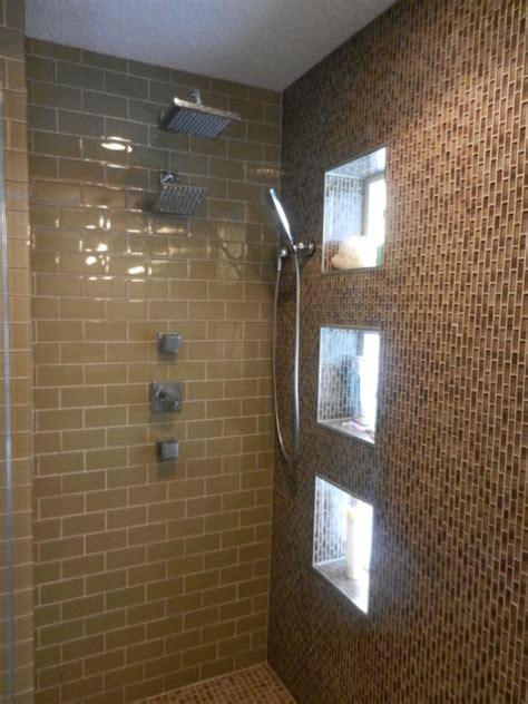 custom walk  shower contemporary bathroom
