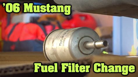 Why Change Fuel Filter by How To Change A Fuel Filter 2006 Ford Mustang