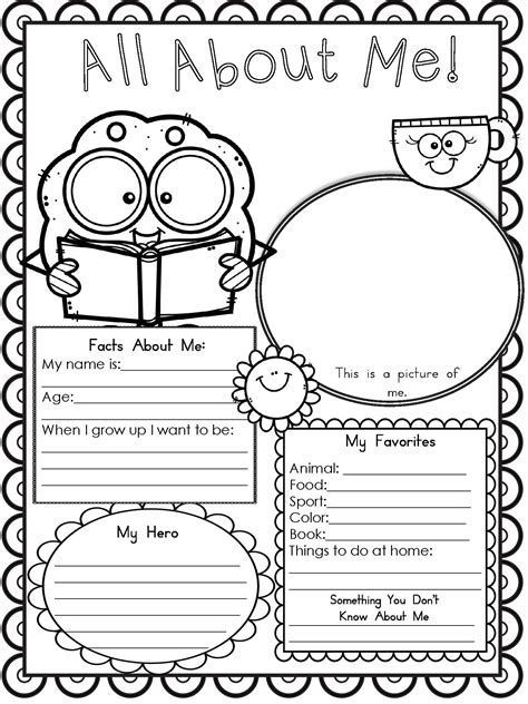 Free Printable All About Me Worksheet  Modern Homeschool Family