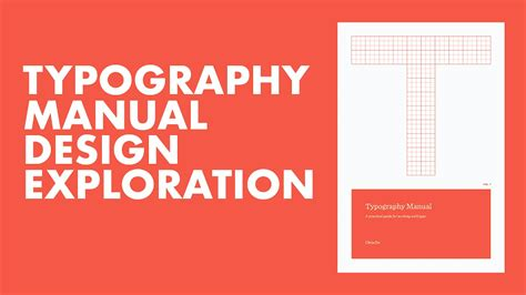 typography manual cover design process pt 1 speed design youtube