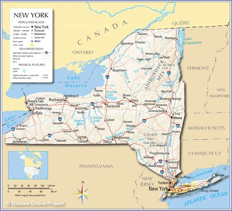 Reference Maps Of The State Of New York, Usa Nations