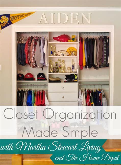 Closet Organizer Home Depot by Closet Organization Made Simple By Martha Stewart Living