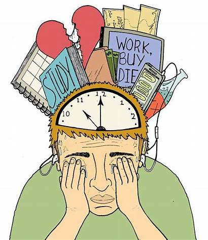 Clipart Stress Student Mental Dealing Health Advocate