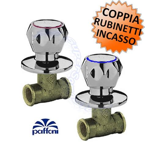 rubinetti d arresto 3s coppia rubinetti arresto da incasso danubio paffoni