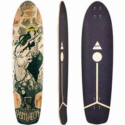 Skateboard Deck Longboard Pantheon Gaia Grip Decks