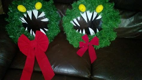 nightmare  christmas monster wreath  floral