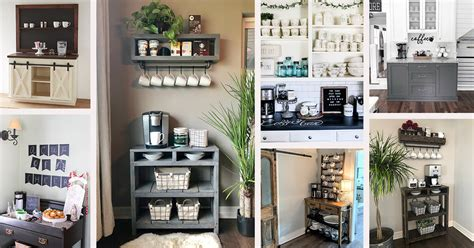 Coffee table style economicals and simple making a small coffee corner will certainly assist you embellish your home. 28 Best Coffee Bar Ideas to Kickstart Your Days in 2021