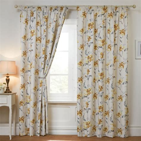 Yellow And White Curtains Uk by Blackout Yellow Thermal Top Curtains