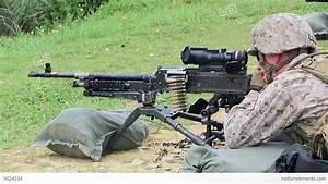 Browning M2 .50 Caliber Machine Gun And M240G Medium ...