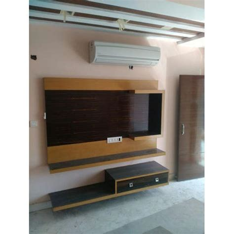 wall mounted wooden led tv unit rs 35000 unit royal