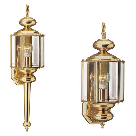 Polished Brass Sconce - sea gull lighting polished brass outdoor wall sconce 8510