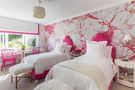 silver  pink girls bedroom  hot pink headboards