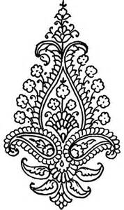 Henna Tattoo Paisley Design Coloring Page