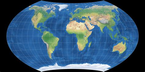 map projections viewing options flat oceans south