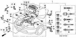 Honda Civic 4 Door Lx Ka 5mt Engine Wire Harness Pertaining To Honda Civic 1998 Engine Diagram