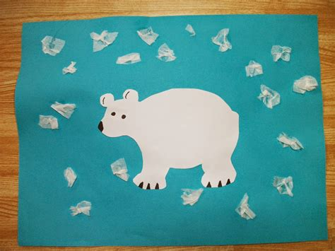 polar bear crafts for preschoolers preschool crafts for easy polar tissue snow craft 204
