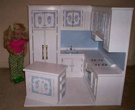 kitchen   american girl size doll  cmcraftedtreasures