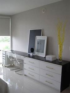 Ikea Malm Hack : this beautiful desk is made by putting an ikea malm 6 drawer dresser and micke desk together and ~ Watch28wear.com Haus und Dekorationen