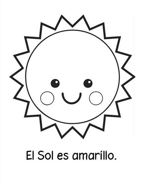 Pin de Erika Herrera em Clip art Sol para colorir