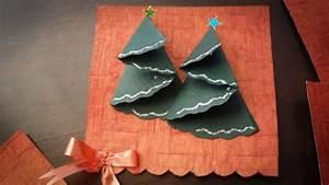 Tannenbaum Falten Anleitung : weihnachtskarten basteln ideen mit glitzernden ~ Lizthompson.info Haus und Dekorationen