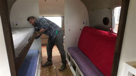 Bunk Beds With Couches Underneath by Airstream Renovation Progres Update Custom Bunk Beds That