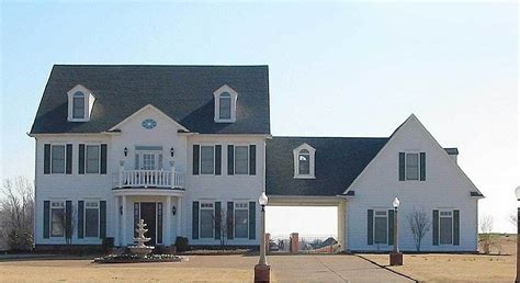 center hall colonial house plan sv architectural