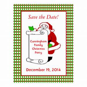 Christmas Party Save The Date Postcards | Zazzle