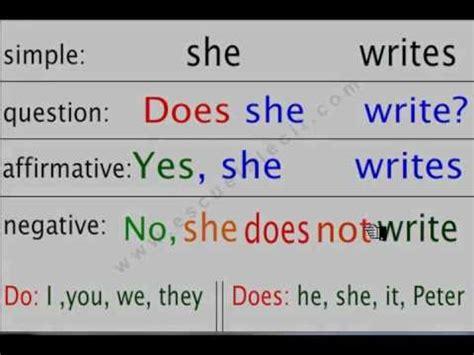 El uso de Do vs Does parte 2. Lecii School - YouTube