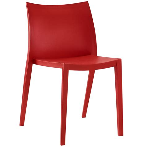 gallant contemporary plastic dining side chair