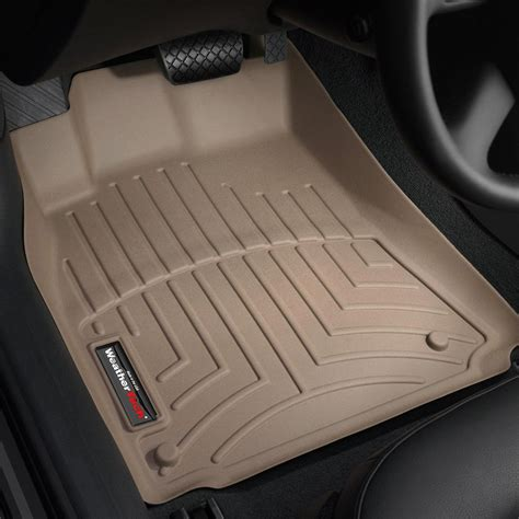 weathertech floor mats or liners weathertech 174 452121 digitalfit 1st row tan molded floor liners