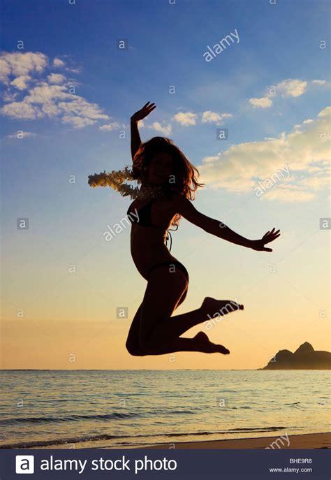 silhouette girl running stock  silhouette girl