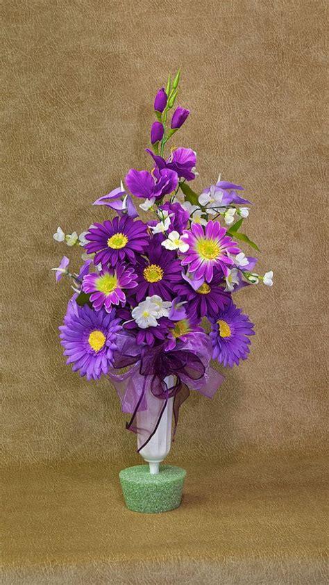 Flowers For Vases by Silk Flowers For Cemetery Vases Silk Flower Memorial