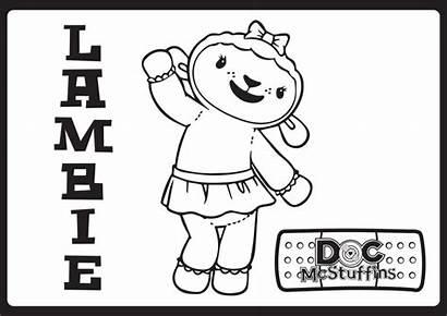 Mcstuffins Doc Coloring Pages Lambie Disney Movies