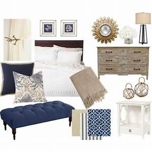Navy, Blue, And, Khaki, Bedroom